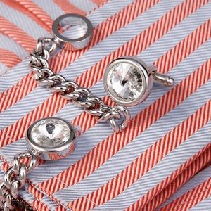 Other - Chain Crystal Cufflinks High Quality French Shirts
